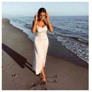 Zara Satin Lingerie style dress (0881)